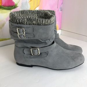 Justfab gray ankle boots 7